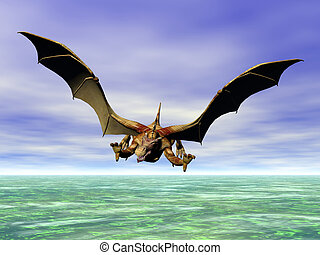 Attack Dragon - Flying dragon in attack posture