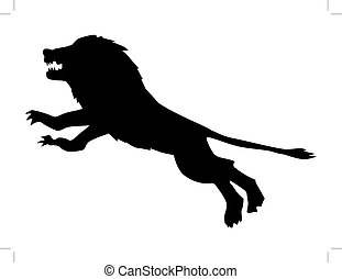 Lion attack vector illustration - Search Clipart, Drawings ...