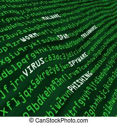 attaque, code, méthodes, cyber