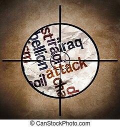 attaque, concept, irak