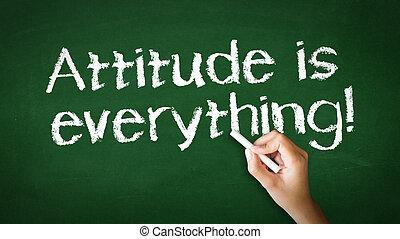 atteggiamento, è, tutto, gesso, illustrazione