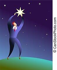 atteignez, les, étoiles