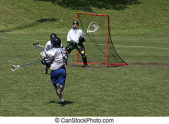 Attempt on Net - A player attempting a shot on goal.