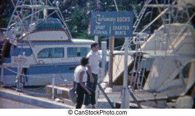 attente, sports, docks, 1952:, peche