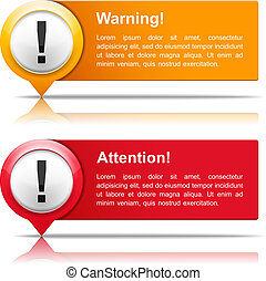 Attention and Warning Banners - Attention and warning...