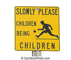 attention children playing