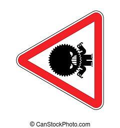 attention, danger, prudence, rouges, avertissement, signe.,...
