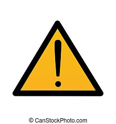 Attention danger sign symbol or sticker isolated on white background vector illustration