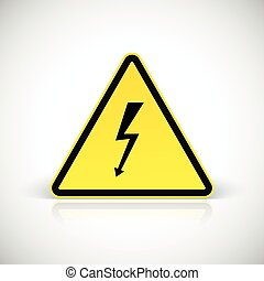 Attention electric shock signs.