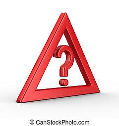 attention., image, isolé, signe, arrière-plan., trafic, blanc, 3d