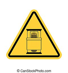 Attention log in bed. Caution bad. Vector Warning yellow road Sign