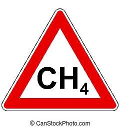 attention, méthane, signe
