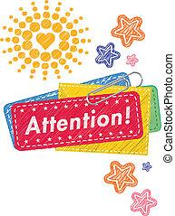 Attention memo design - Attention memo illustration pattern