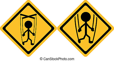 Attention People Manipulation Sign - Illustration symbolizes...