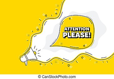 Attention please symbol. Special offer sign. Vector
