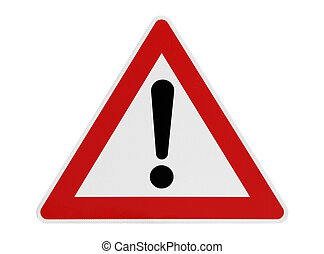 Attention Road Sign - This image shows a attention road sign...