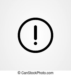 Attention sign icon vector design