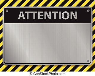 Attention sign, illustration vector