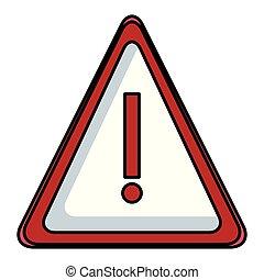 Attention sign symbol