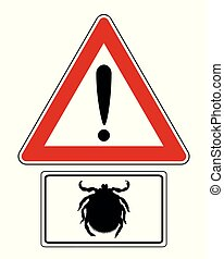 Attention sign with optional label tick