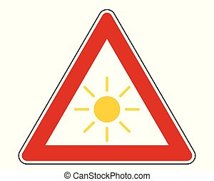 Attention sign with sun