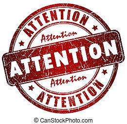 Attention grunge stamp