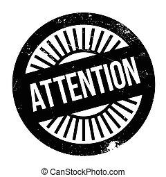 Attention stamp rubber grunge