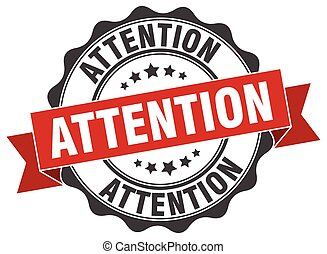 attention stamp. sign. seal