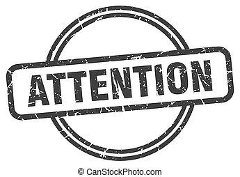 attention vintage stamp. attention sign