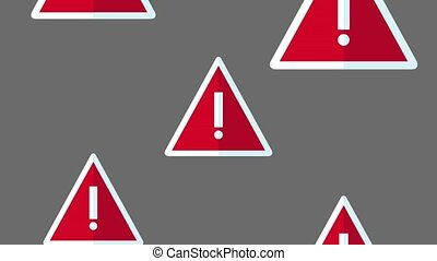 Attentions signs falling HD animation - Attentions signs...