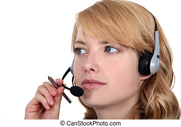 Attentive call-center worker