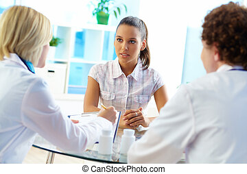 Attentive patient - Pretty patient listening to...