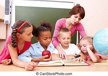 Attentive pupils - Portrait of pupils looking at lecturer...