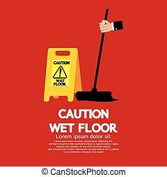 attenzione, floor., bagnato