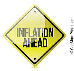 attenzione, inflazione, -, avanti