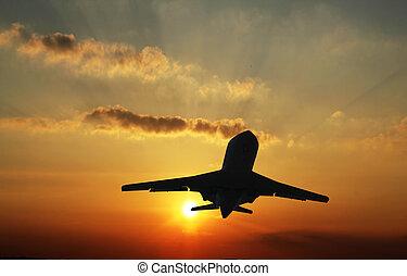 atterraggio, aereo