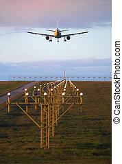atterraggio aeroplano