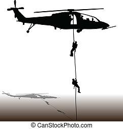 atterraggio, di, il, elicottero