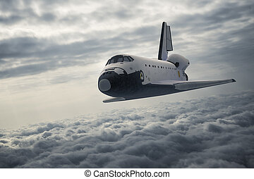 atterrissage navette, espace