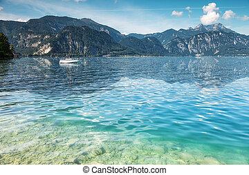 attersee, áustria, lago