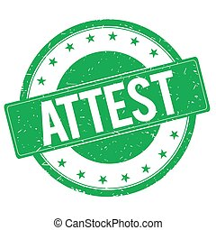 ATTEST stamp sign green - ATTEST stamp sign text word logo ...