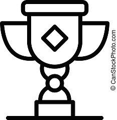 Attestation award icon, outline style - Attestation award ...