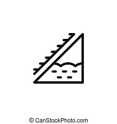 Attic insulation line icon isolated on white. Vector...