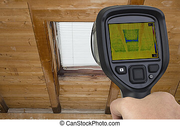Attic Window Infrared - Attic Window Thermal Leak...