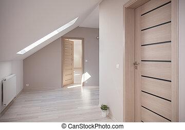 attico, beige, stanza