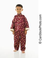 attire., アジア 男の子