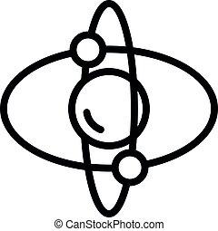 Attitude gyroscope icon, outline style