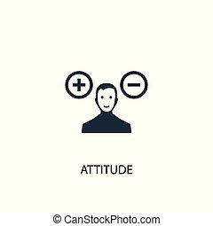 attitude icon. Simple element illustration. attitude concept symbol design. Can be used for web and mobile.