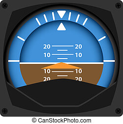 Attitude Indicator - vector illustration of airplane...