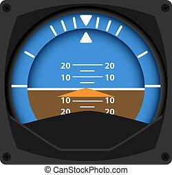 Attitude Indicator - vector illustration of airplane...
